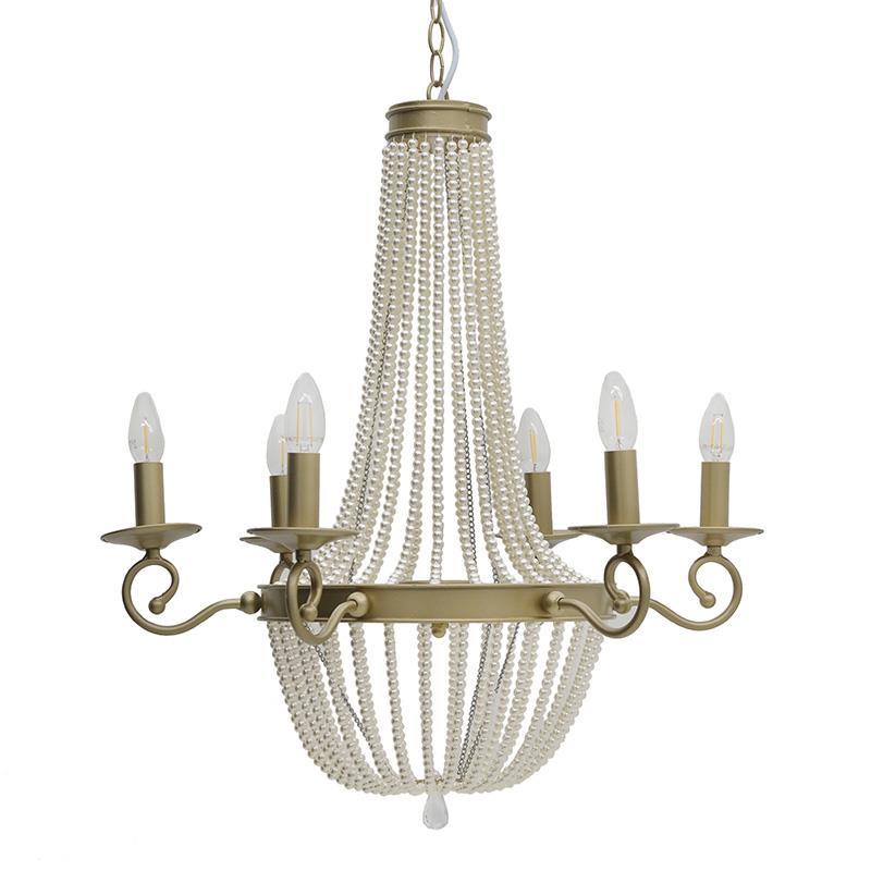 Φωτιστικό οροφής 6φωτο μεταλλικό χρυσό 64x64x74cm Inart 3-10-872-0064