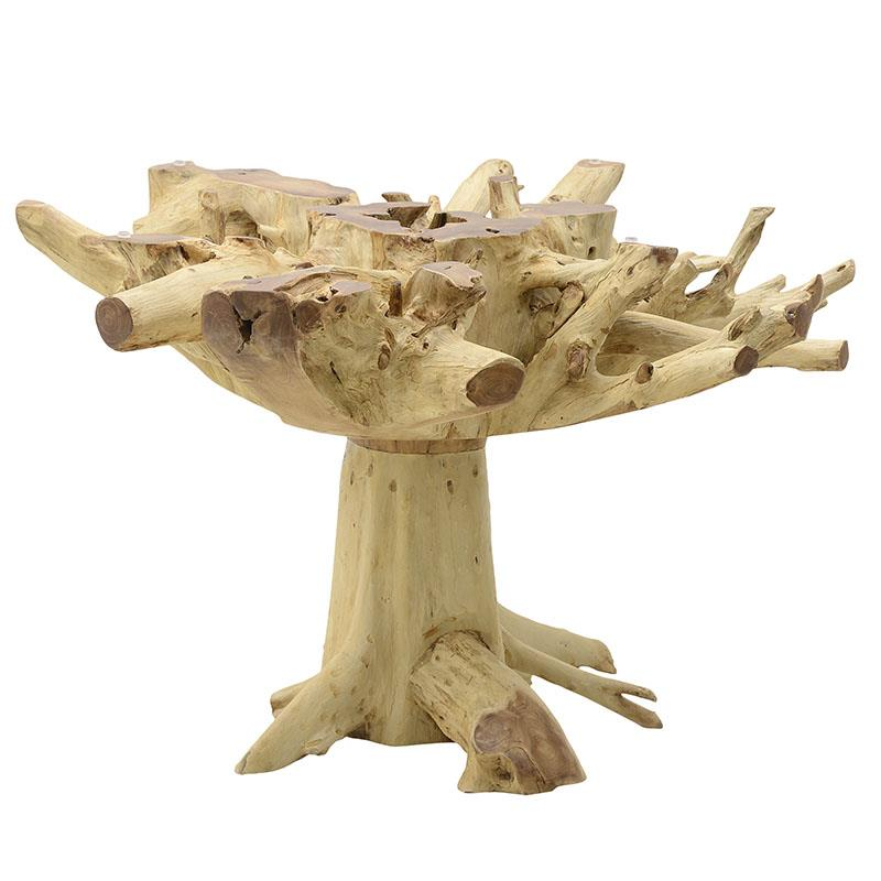 Τραπεζαρία ξύλινη natural 120x120x76cm Inart 3-50-557-0022