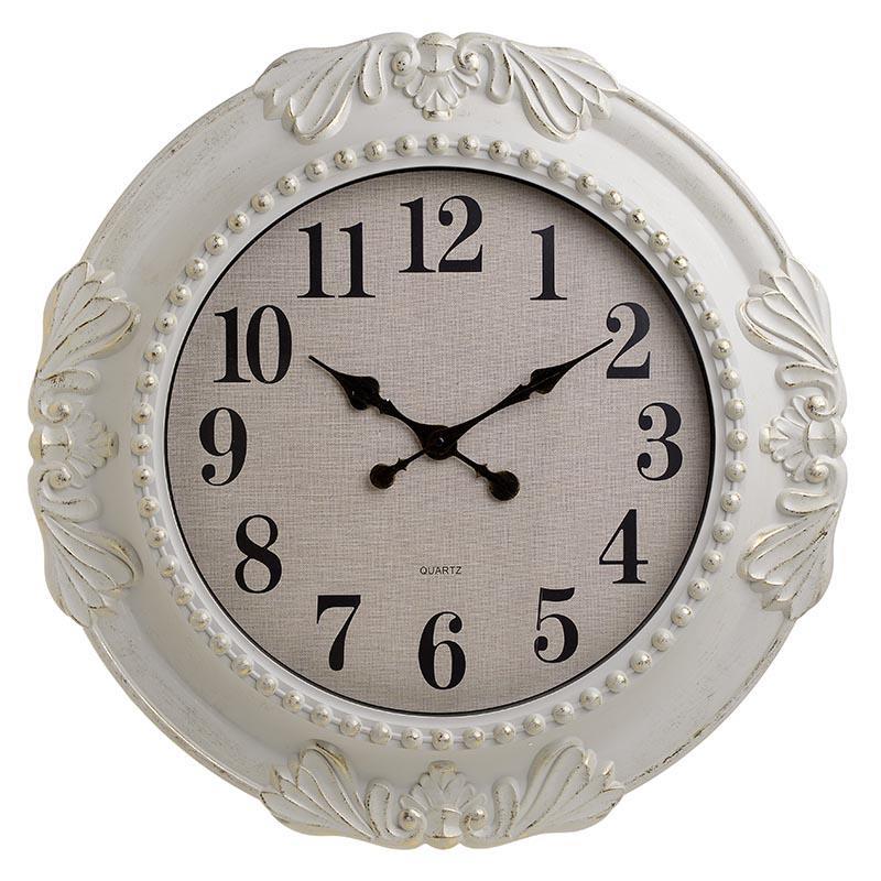 Ρολόι τοίχου pl αντικέ κρεμ/χρυσό 61x5cm Inart 3-20-284-0128