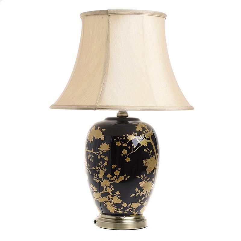 Φωτιστικό επιτραπέζιο κεραμικό χρυσό/μαύρο 40x60cm Inart 3-15-959-0042