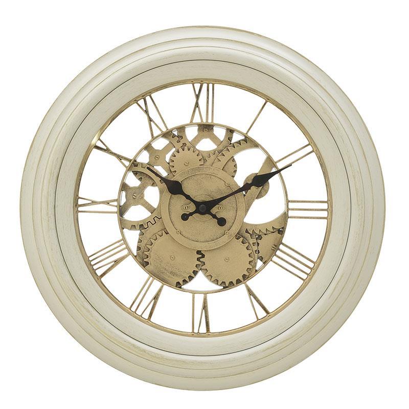 Ρολόι τοίχου pl λευκό/χρυσό 36x5cm Inart 3-20-925-0013