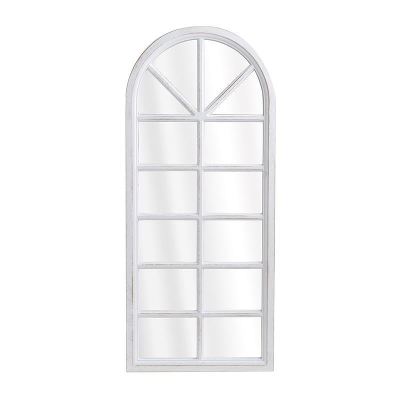 Καθρέπτης τοίχου pl αντικέ λευκός/χρυσός 32x3x75cm Inart 3-95-413-0001