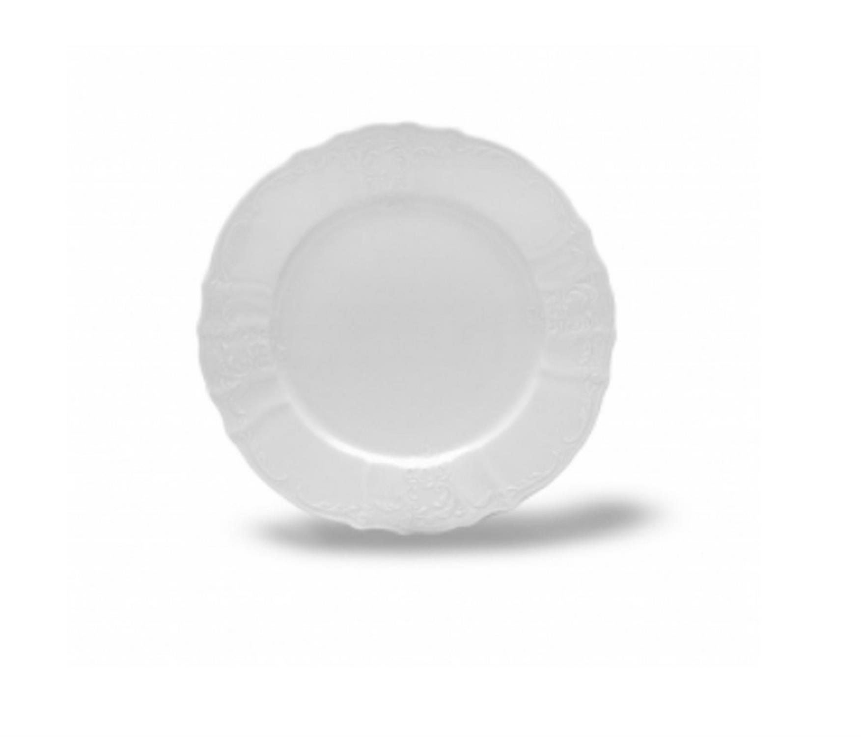Πιάτο φρούτου Bernadotte λευκό με ανάγλυφα λουλούδια 19εκ