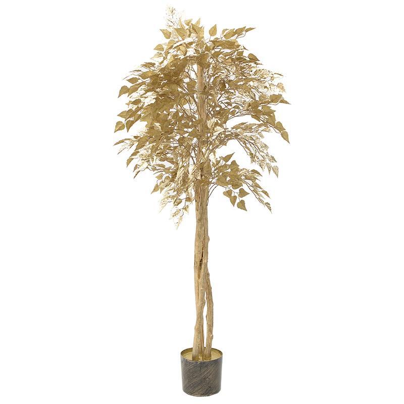 Φυτό σε γλάστρα χρυσό 165cm Inart 3-85-309-0008