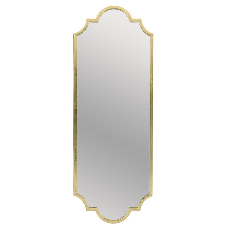 Καθρέπτης τοίχου μεταλλικός χρυσός 50x3x137cm Inart 3-95-161-0037