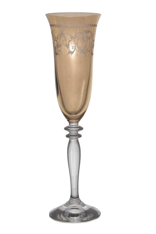 Κρυστάλλινο ποτήρι σαμπάνιας Κνωσσός σετ 6 τεμαχίων
