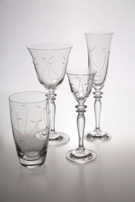 S/6 Ποτήρι λικέρ Μυρτώ κολωνάτο κρυστάλλινο διάφανο