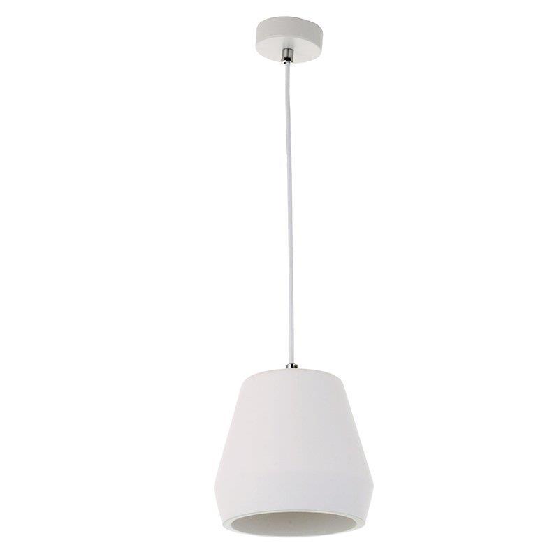 Φωτιστικό οροφής κρεμαστό μονόφωτο γύψινο λευκό 22.5x27cm InLight 4513