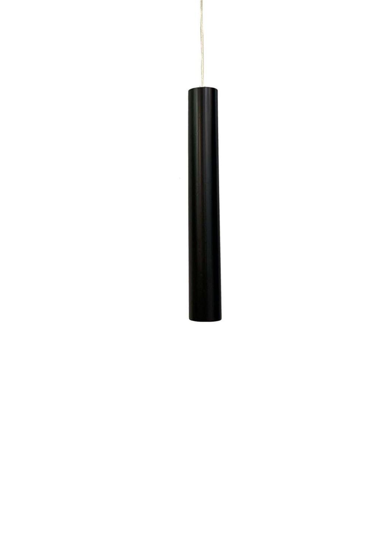 Φωτιστικό οροφής μονόφωτο μεταλλικό μαύρο 6x50cm InLight 4505-Black