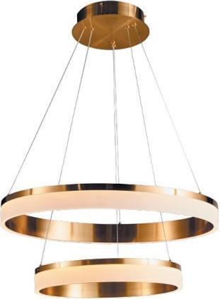 Φωτιστικό οροφής κρεμαστό Led αλουμινίου χρυσό 50cm InLight 6155A GL