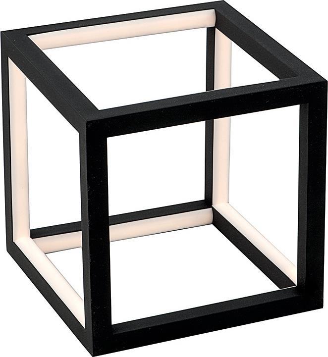 Φωτιστικό επιτραπέζιο Led αλουμινίου μαύρο 20x20cm InLight 3458-BL