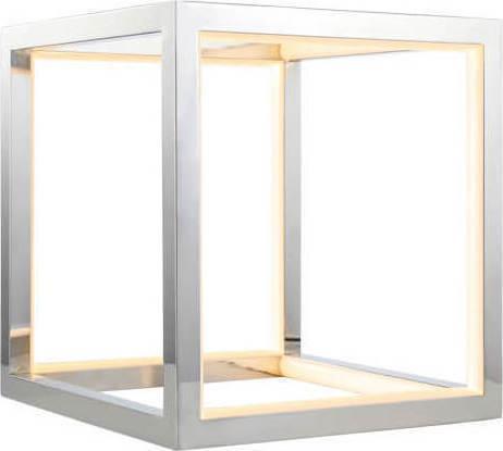 Φωτιστικό επιτραπέζιο Led αλουμινίου χρώμιο 20x20cm InLight 3459-CH