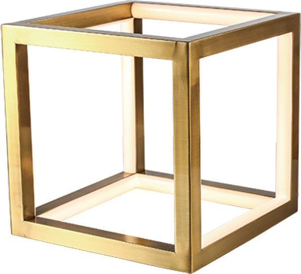 Φωτιστικό επιτραπέζιο Led αλουμινίου χρυσό 20x20cm InLight 3459-GL
