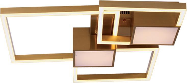 Φωτιστικό οροφής Led αλουμινίου χρυσό 80x60cm InLight 6157-GL