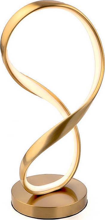 Φωτιστικό επιτραπέζιο Led αλουμινίου χρυσό 20x35cm InLight 3461-GL