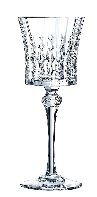 S/6 Ποτήρι κρασιού Lady Diamond 19cl κρυστάλλινο διάφανο