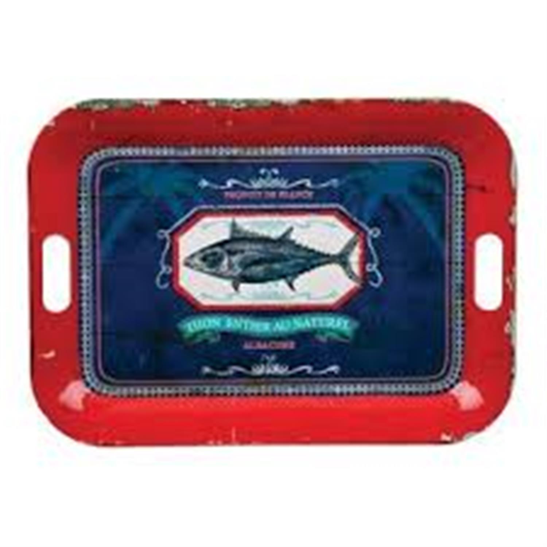 Δίσκος ψάρι κόκκινος/μπλε 52.5x38cm