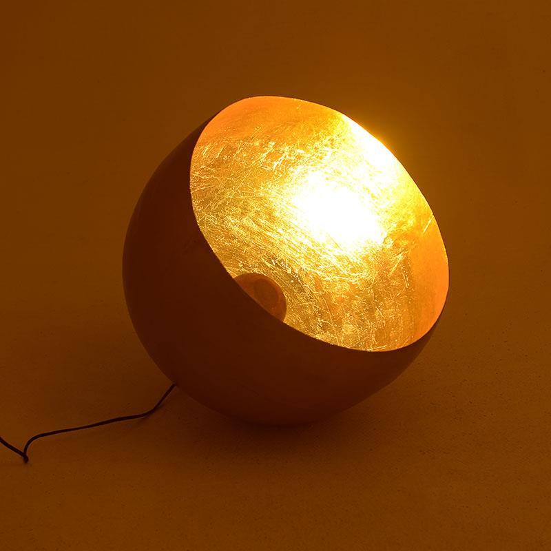 Φωτιστικό επιτραπέζιο/επιδαπέδιο μεταλλικό χρυσό 50x50x46cm Inart 3-15-650-0001