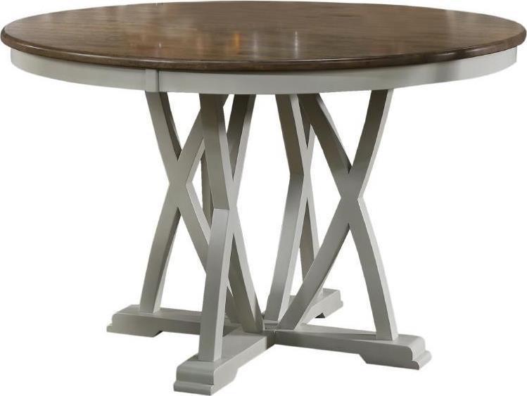 Τραπεζαρία ξύλινη λευκή/natural 120x76cm Inart 3-50-035-0004