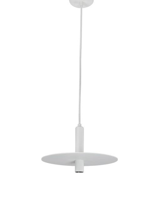 Φωτιστικό οροφής κρεμαστό μονόφωτο με LED λευκό 17cm Zambelis Lights 18139-W