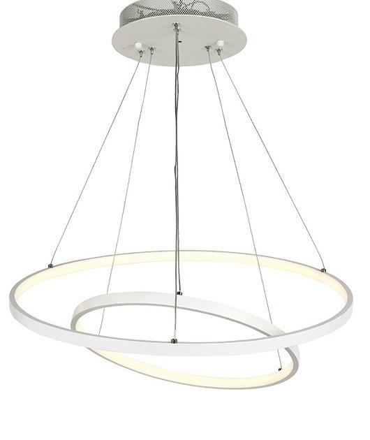 Φωτιστικό οροφής με LED κύκλους λευκό 120×60/40cm Zambelis Lights 180032