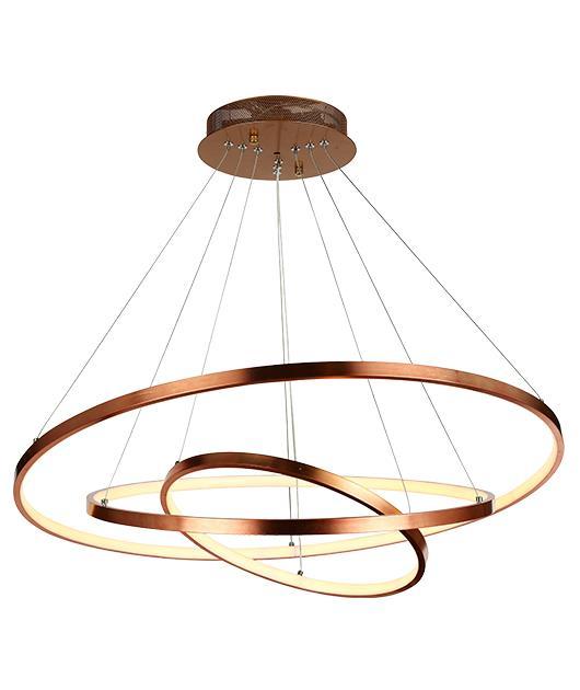 Φωτιστικό οροφής με LED κύκλους καφέ 120×80/60/40cm Zambelis Lights 180031