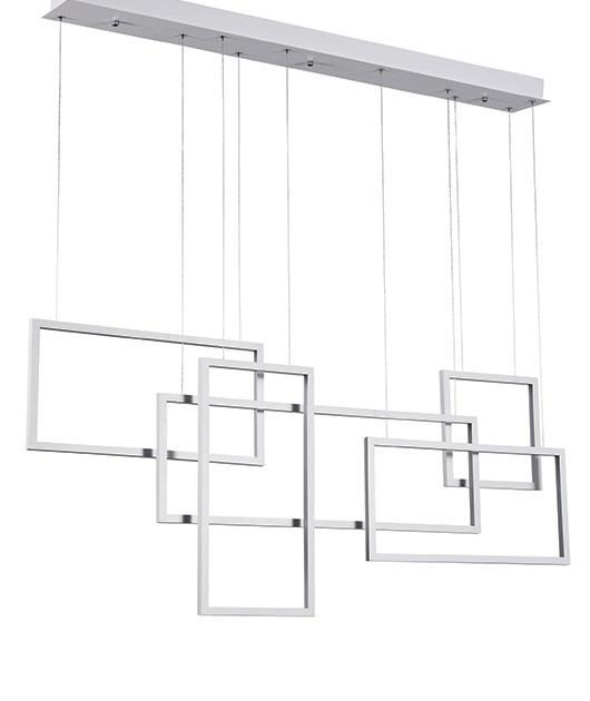 Φωτιστικό οροφής κρεμαστό με LED λευκό 120cm Zambelis Lights 180036