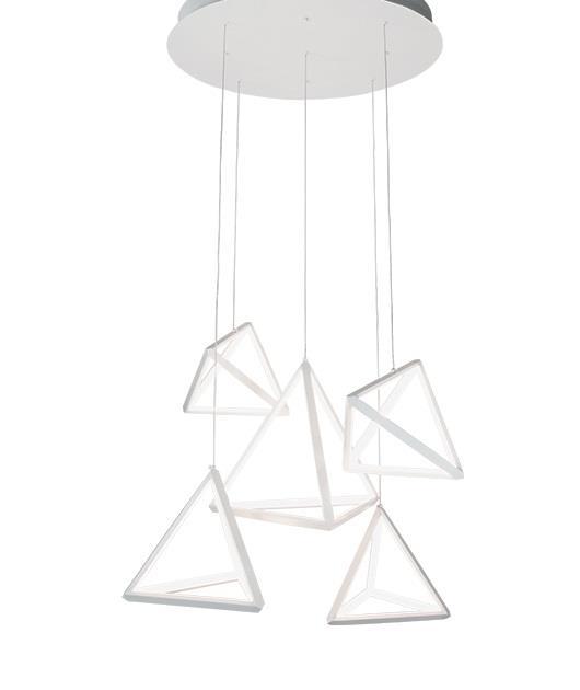 Φωτιστικό οροφής κρεμαστό με LED λευκό 80cm Zambelis Lights 180045