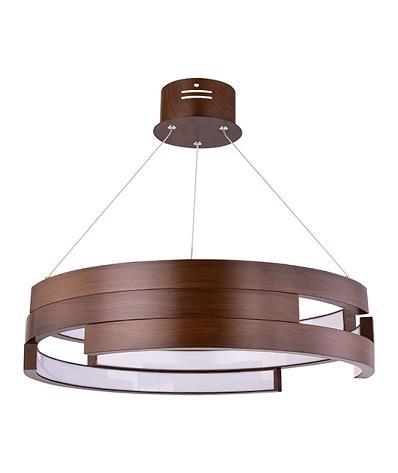 Φωτιστικό οροφής κρεμαστό με LED καφέ 55cm Zambelis Lights 17002