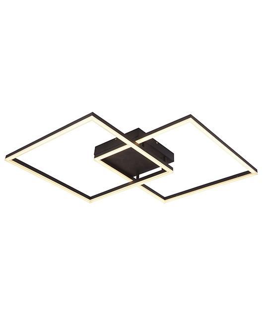 Φωτιστικό οροφής με LED μαύρο 95x65cm Zambelis Lights 17006