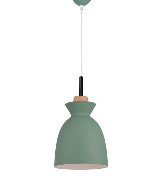 Φωτιστικό οροφής κρεμαστό μονόφωτο πράσινο 150x20cm Zambelis Lights 180065