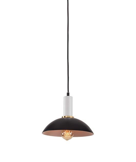 Φωτιστικό οροφής κρεμαστό μονόφωτο μαύρο/λευκό 23cm Zambelis Lights 180052