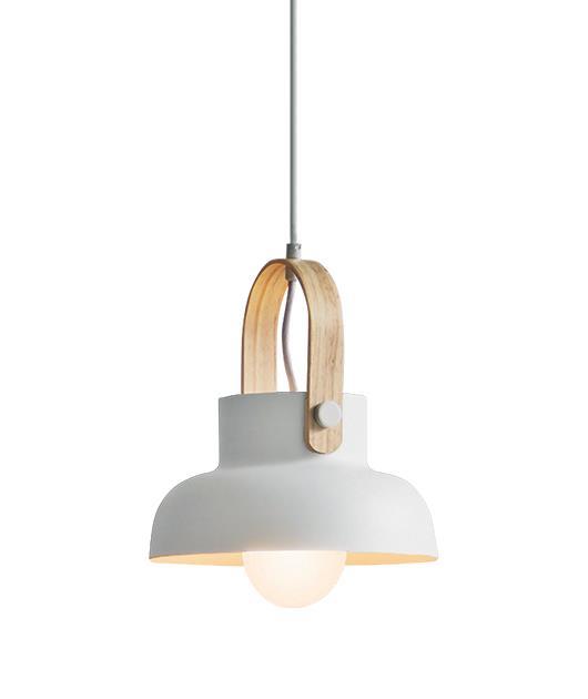 Φωτιστικό οροφής κρεμαστό μονόφωτο λευκό/καφέ 23.5cm Zambelis Lights 18190