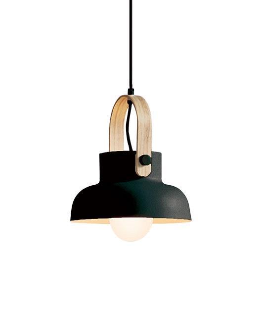 Φωτιστικό οροφής κρεμαστό μονόφωτο μαύρο/καφέ 23.5cm Zambelis Lights 18191