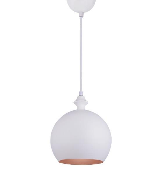 Φωτιστικό οροφής κρεμαστό μονόφωτο λευκό 24cm Zambelis Lights 180098