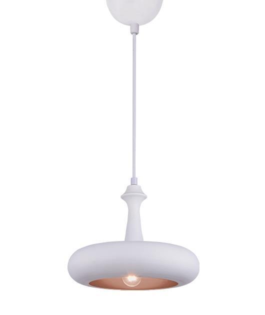 Φωτιστικό οροφής κρεμαστό μονόφωτο λευκό 30cm Zambelis Lights 180097