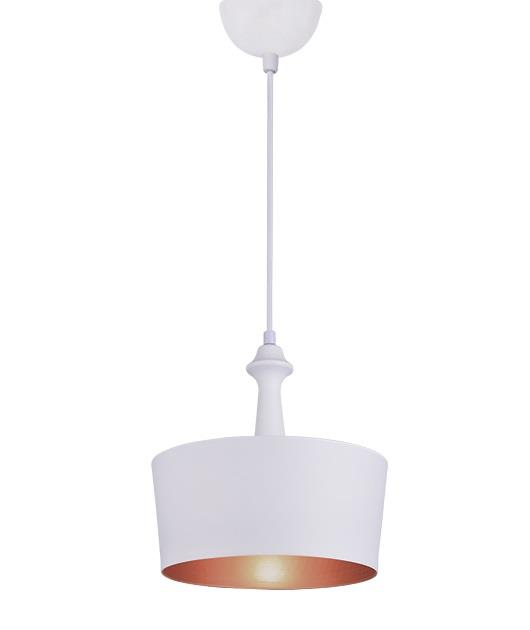 Φωτιστικό οροφής κρεμαστό μονόφωτο λευκό 30cm Zambelis Lights 180095