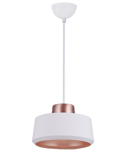 Φωτιστικό οροφής κρεμαστό μονόφωτο λευκό/χάλκινο 150x20cm Zambelis Lights 180080