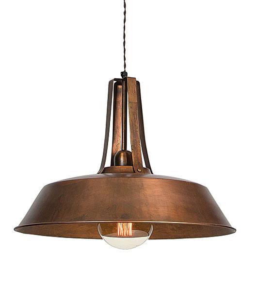 Φωτιστικό οροφής κρεμαστό μονόφωτο χάλκινο 46cm Zambelis Lights 1641