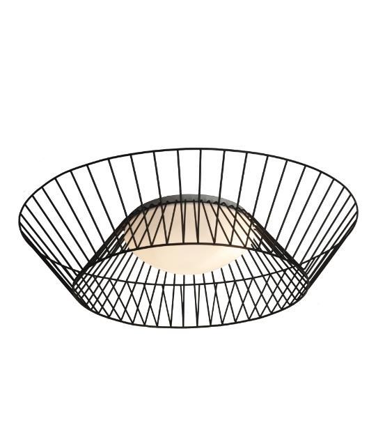 Φωτιστικό οροφής/Πλαφονιέρα 3φωτο μαύρο 70cm Zambelis Lights 1546