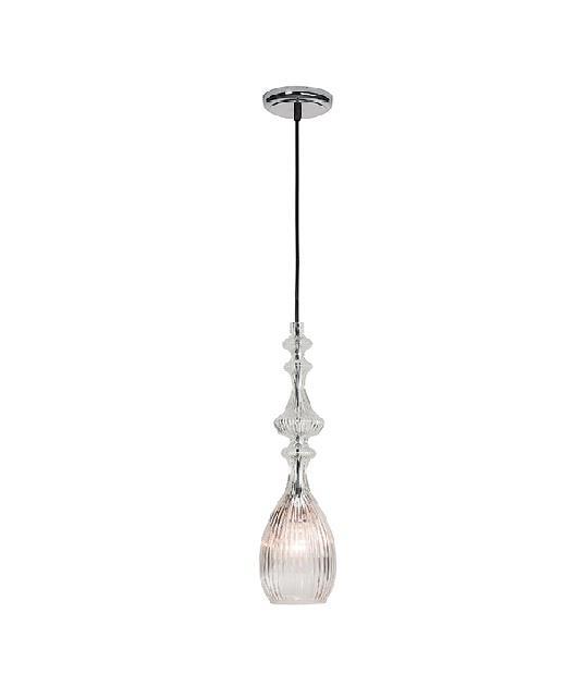 Φωτιστικό οροφής κρεμαστό μονόφωτο γυάλινο διάφανο 70x11cm Zambelis Lights 17037