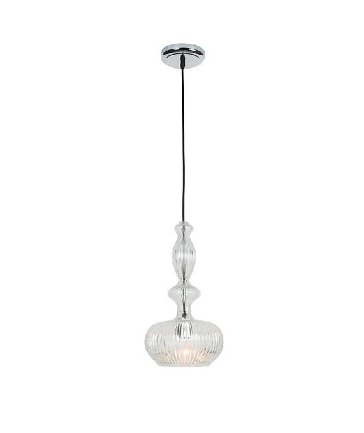 Φωτιστικό οροφής κρεμαστό μονόφωτο γυάλινο διάφανο 70x20cm Zambelis Lights 17039