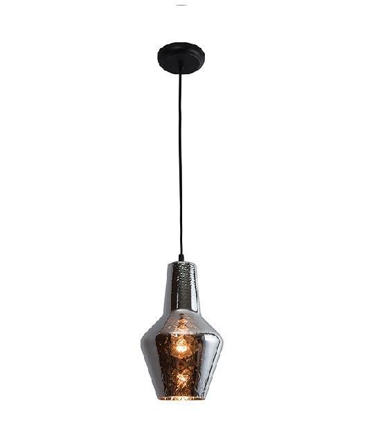 Φωτιστικό οροφής κρεμαστό μονόφωτο χρώμιο 131cm Zambelis Lights 17055