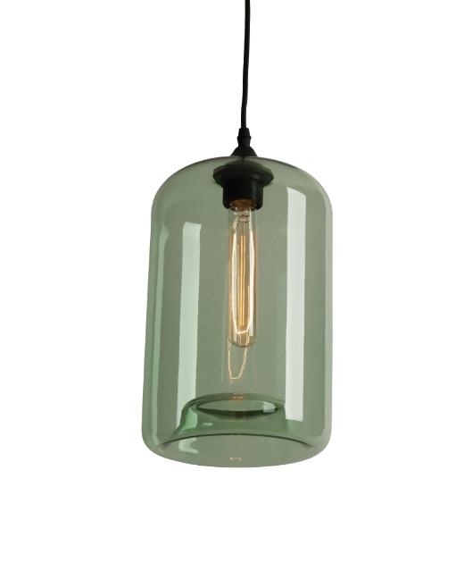 Φωτιστικό οροφής κρεμαστό μονόφωτο πράσινο 130cm Zambelis Lights 1572