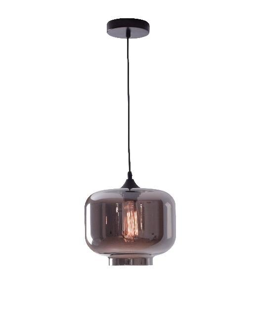 Φωτιστικό οροφής κρεμαστό μονόφωτο γυάλινο γκρι 122cm Zambelis Lights 14102