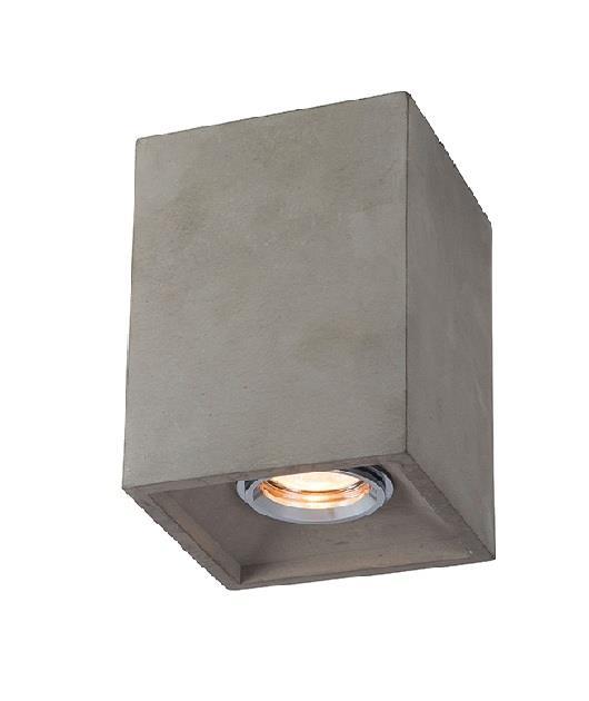 Φωτιστικό οροφής μονόφωτο μπετό γκρι 15.5x12cm Zambelis Lights 17061