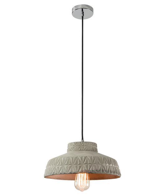 Φωτιστικό οροφής κρεμαστό μονόφωτο μπετό γκρι 134cm Zambelis Lights 18113