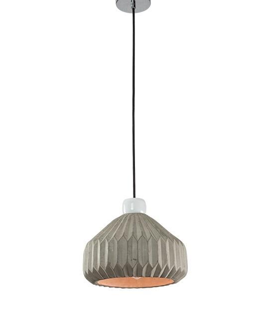 Φωτιστικό οροφής κρεμαστό μονόφωτο μπετό γκρι 141cm Zambelis Lights 18111