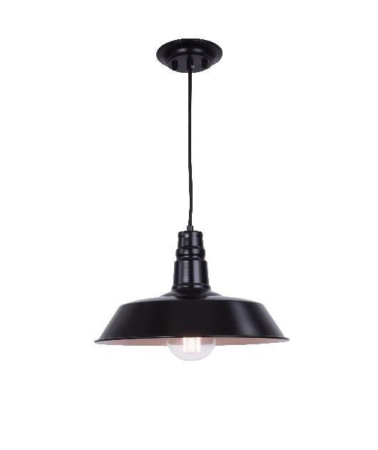 Φωτιστικό οροφής κρεμαστό μονόφωτο αλουμινίου μαύρο 121cm Zambelis Lights 1495