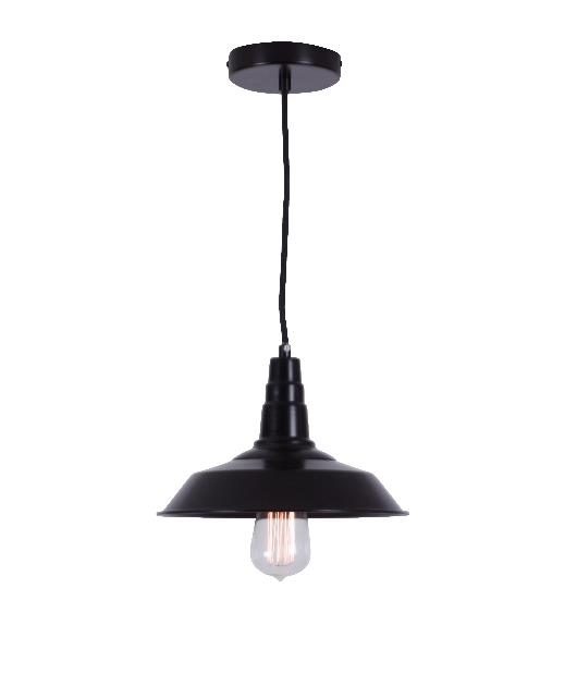 Φωτιστικό οροφής κρεμαστό μονόφωτο αλουμινίου μαύρο 116cm Zambelis Lights 1496
